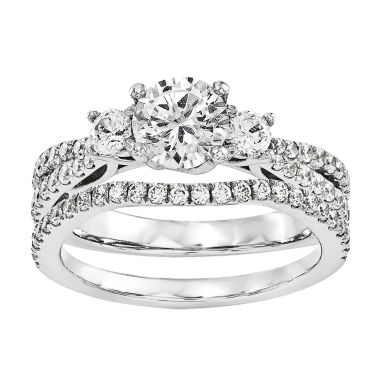 jcpenney.com | 1 1/5 CT. T.W. Diamond 14K White Gold Bridal Set