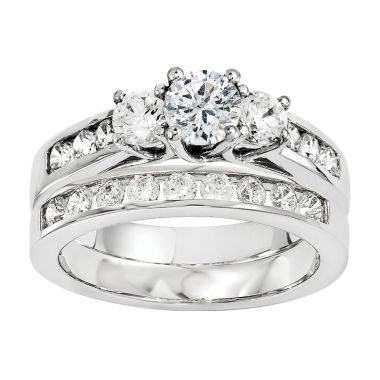 jcpenney.com | 7/8 CT. T.W Diamond 14K White Gold Bridal Set
