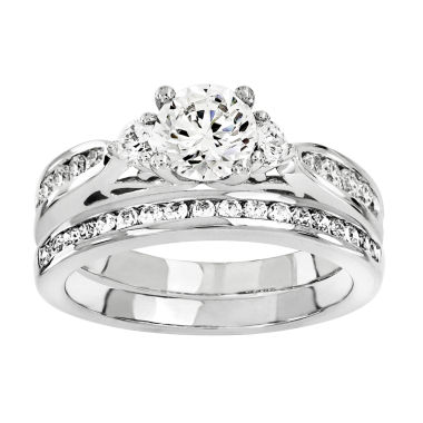 jcpenney.com | 1 CT. T.W Diamond 14K White Gold Bridal Set