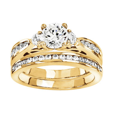 jcpenney.com | 1 1/5 CT. T.W. Diamond 14K Yellow Gold Bridal Set