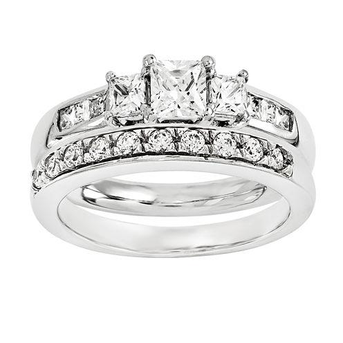 5/8 Ct. T.W Diamond 14K White Gold Bridal Set