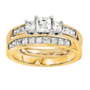 1 3/4 CT. T.W. Diamond 14K Two-Tone Bridal Set