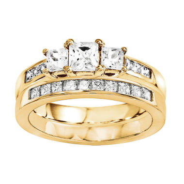 jcpenney.com | 2 CT. T.W. Diamond 14K Yellow Gold Bridal Set