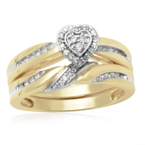 1/5 CT. T.W. Diamond 10K Two-Tone Engagement Ring