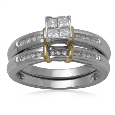 jcpenney.com | 1/3 CT. T.W. Diamond 10K Two-Tone Engagement Ring