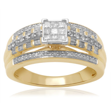 jcpenney.com | 1/2 CT. T.W. Diamond 10K Two-Tone Engagement Ring