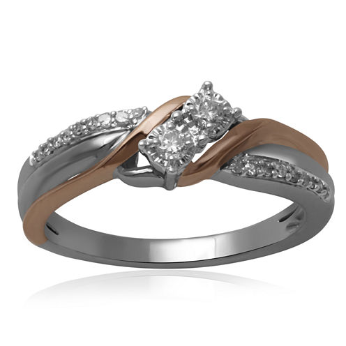 1/7 CT. T.W. Diamond 10K Two-Tone Engagement Ring