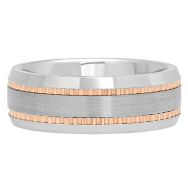 jcpenney.com | Mens Tungsten Carbide Two-Tone Wedding Band