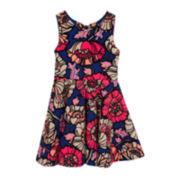 Rare Editions Sleeveless Floral Skater Dress - Preschool Girls 4-6x
