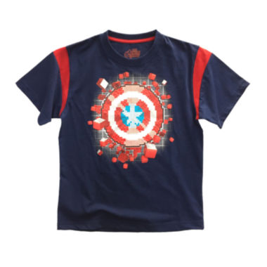 jcpenney.com | Marvel® Short-Sleeve Avengers Shield Cotton Tee