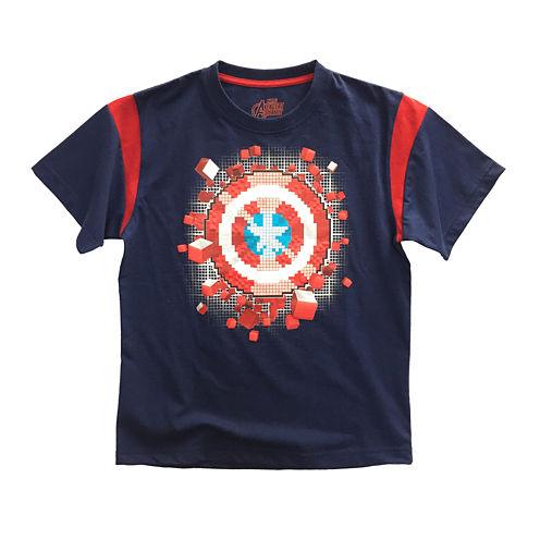 Marvel® Short-Sleeve Avengers Shield Cotton Tee