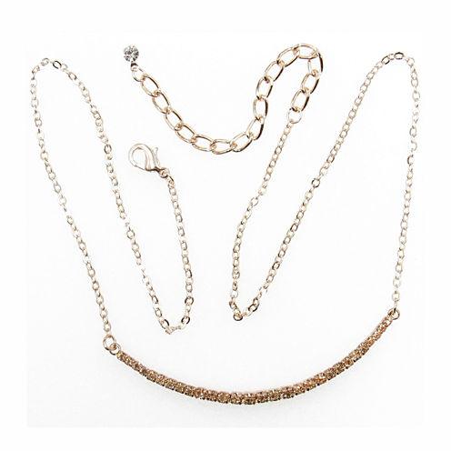 Vieste Rosa Womens Pink Brass Collar Necklace