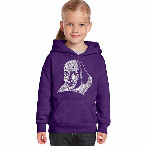 Los Angeles Pop Art The Titles Of All Of William Shakespeare'S Comedies & Tragedies Long Sleeve Sweatshirt Girls