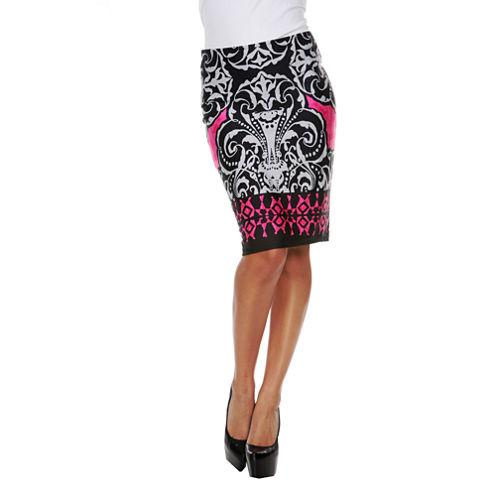 White Mark Victoria Pencil Skirt