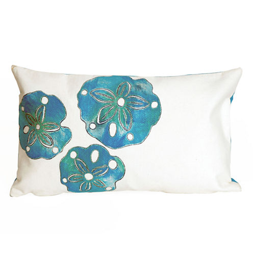Liora Manne Visions Ii Sand Dollar Rectangular Outdoor Pillow