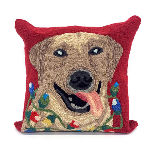 Liora Manne Frontporch Happy Holidays Square Outdoor Pillow