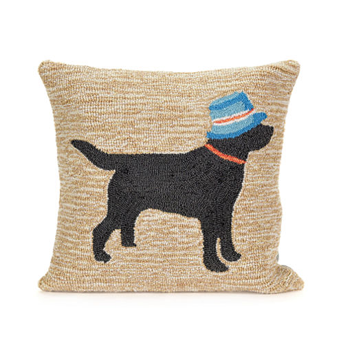 Liora Manne Frontporch Vacation Dog Square Outdoor Pillow