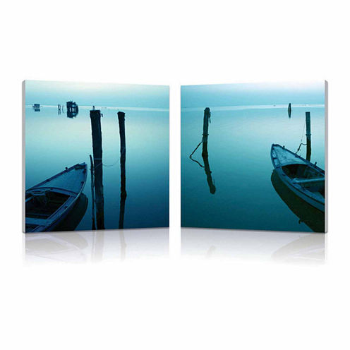 Idle Shore Mounted  2-pc. Photography Print Diptych Set