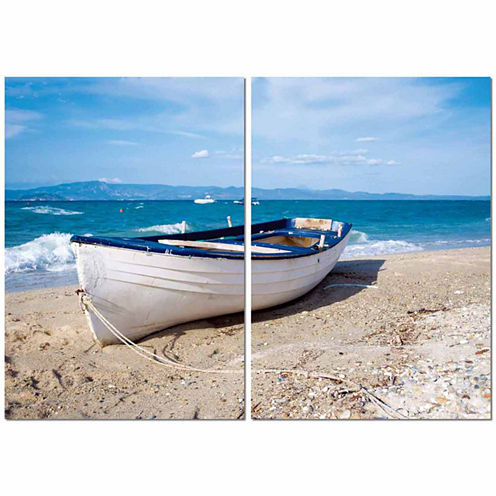 Leisurely Afternoon Mounted  2-pc. Photography Print Diptych Set