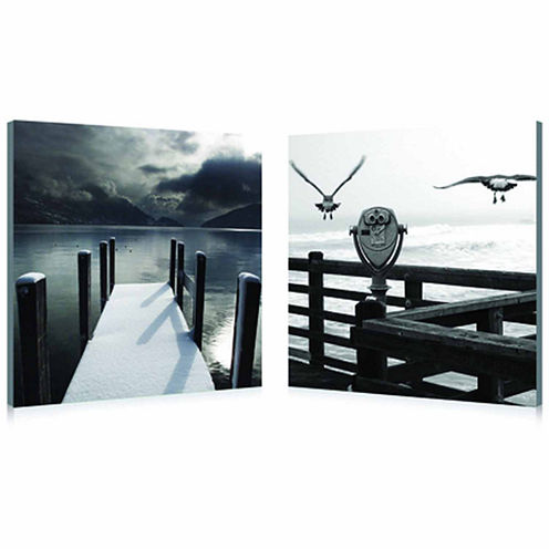 Lake Lookout Mounted  2-pc. Photography Print Diptych Set