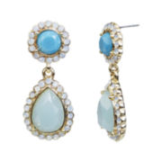 Mixit™ Shades of the Sea Double-Drop Earrings