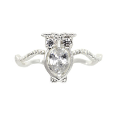 jcpenney.com | the skinny® Cubic Zirconia Owl Ring