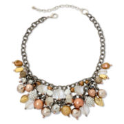 Aris by Treska Glitterati Shaky Bead Bib Necklace