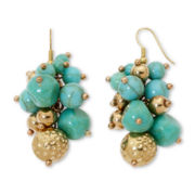 Aris by Treska Simulated Turquoise Cluster Earrings