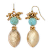 Aris by Treska Simulated Turquoise Shaky Beaded Earrings