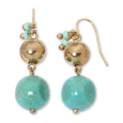 Aris by Treska Simulated Turquoise Drop Earrings