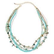 Aris by Treska Multi-Row Mixed Media Necklace