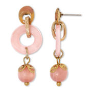 Aris by Treska Peach Bellini Linear Drop Earrings
