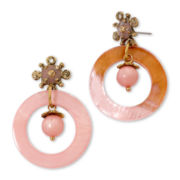 Aris by Treska Peach Bellini Circle Earrings