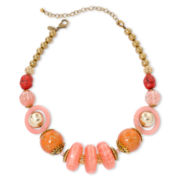 Aris by Treska Peach Bellini Chunky Bead Necklace