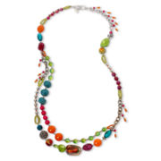 Aris by Treska Samba Long Mixed Media Necklace