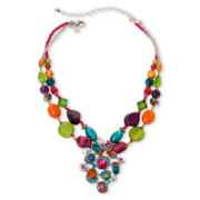 Aris by Treska Samba Double-Row Pendant Necklace