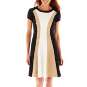 Studio 1® Cap-Sleeve Colorblock Dress