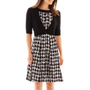 Perceptions Houndstooth Dress with Jacket