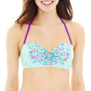 Arizona Print Pushup Bandeau Swim Top - Juniors