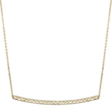 jcpenney.com | 14K Yellow Gold Curved Bar Necklace