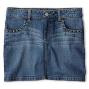 Total Girl® Denim Miniskirt - Girls 6-16 and Plus