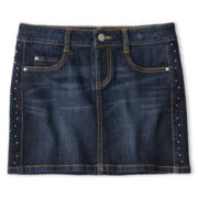 Total Girl® Studded Denim Miniskirt - Girls 6-16 and Plus