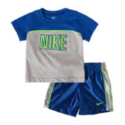 Nike® N45 Velocity Short-Sleeve Shirt and Shorts Set - Boys 12m-24m