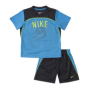 Nike® Baseball Mesh Short-Sleeve Shirt and Shorts Set - Boys 12m-24m