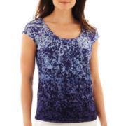 Liz Claiborne® Short-Sleeve Mesh Tee - Tall
