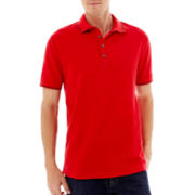 Claiborne Tipped Piqué Polo Shirt