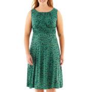 Danny & Nicole® Sleeveless Ruched Keyhole Dress - Plus