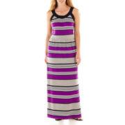 a.n.a® Striped Halter Maxi Dress - Plus