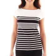 Liz Claiborne® Short-Sleeve Striped Tee