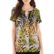 Worthington® Short-Sleeve Blouse - Tall